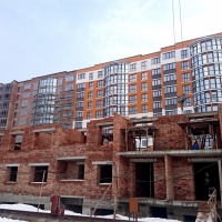 Хід будівництва, лютий 2018 року